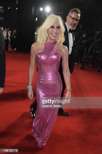 Donatella Versace and Daniel Marks arrive at The Fashion Awards 2019 held at Royal Albert Hall on December 2 2019 in London England