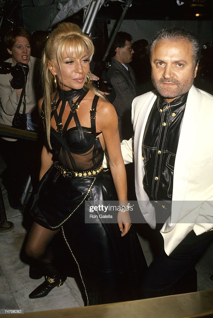 Donatella Versace and Gianni Versace at the New York Public Library in New York City, New York