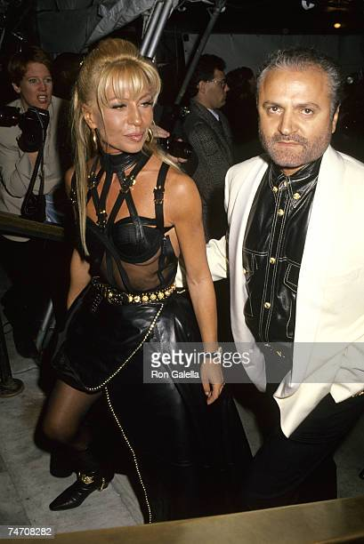 Donatella Versace and Gianni Versace at the New York Public Library in New York City New York