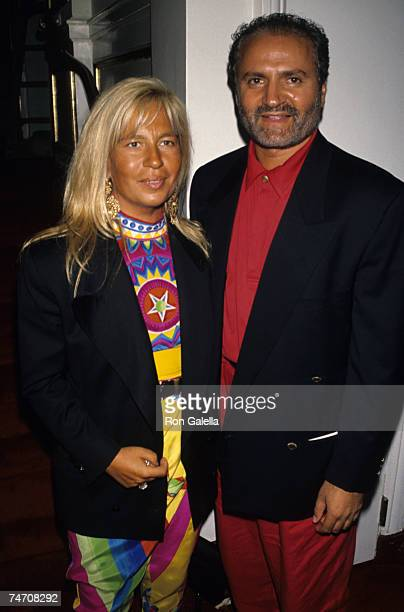 Donatella Versace and Gianni Versace at the Paramount Hotel in New York City New York