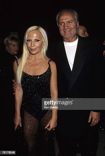 Donatella Versace and Gianni Versace