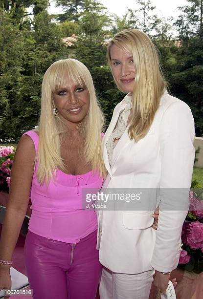 Donatella Versace and guest during Versace Luncheon to Benefit Children's Action NetworkWestside Children's Center Sponsored By InStyle Magazine at...