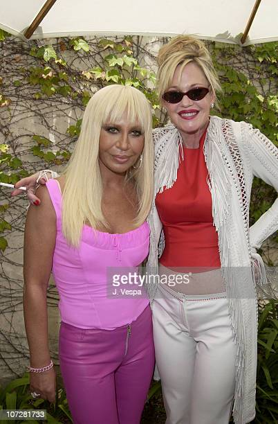 Donatella Versace and Melanie Griffith during Versace Luncheon to Benefit Children's Action NetworkWestside Children's Center Sponsored By InStyle...