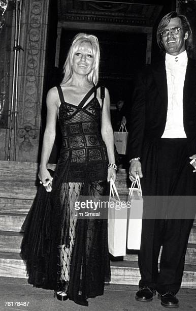 Donatella Versace and Paul Beck