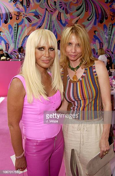 Donatella Versace and Rosanna Arquette during Versace Luncheon to Benefit Children's Action NetworkWestside Children's Center Sponsored By InStyle...