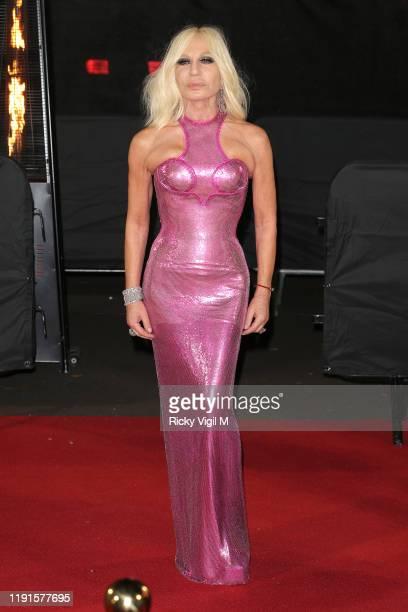 Donatella Versace arrives at The Fashion Awards 2019 held at Royal Albert Hall on December 02, 2019 in London, England.