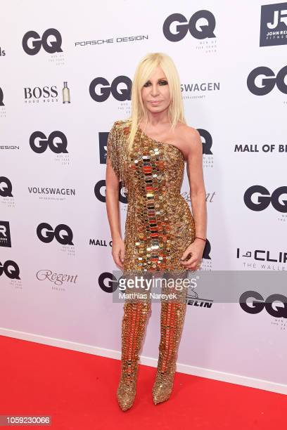 Donatella Versace arrives for the 20th GQ Men of the Year Award at Komische Oper on November 8 2018 in Berlin Germany