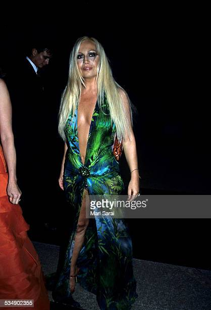 Donatella Versace at Metropolitan Museum of Art Costume Institute Gala, New York, December 6, 1999.