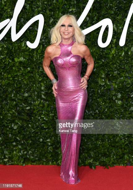 Donatella Versace attend The Fashion Awards 2019 at the Royal Albert Hall on December 02, 2019 in London, England.