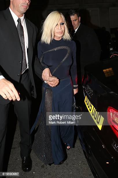 Donatella Versace attending the Harper's Bazaar Women of the Year Awards on October 31 2016 in London England
