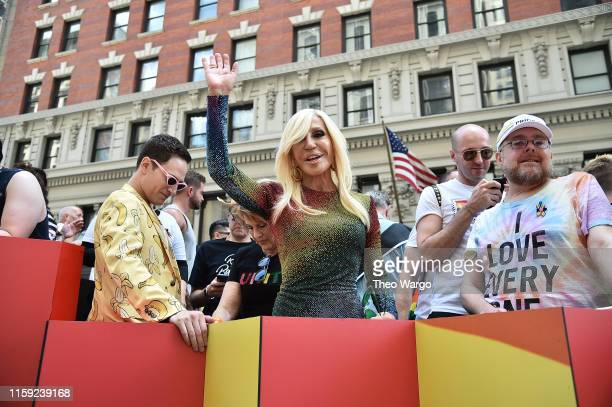 Donatella Versace attends Pride March - WorldPride NYC 2019 on June 30, 2019 in New York City.