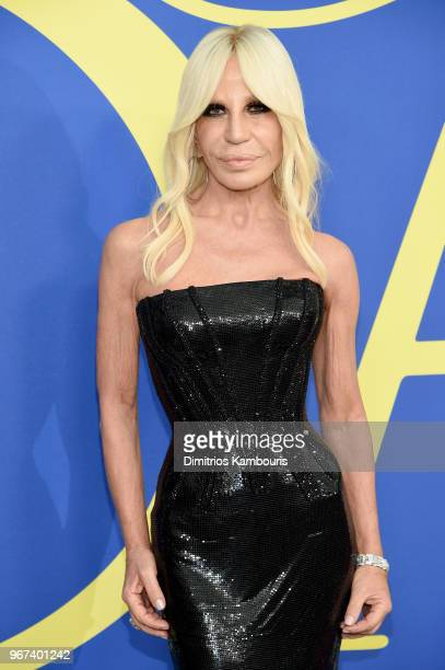 Donatella Versace attends the 2018 CFDA Fashion Awards at Brooklyn Museum on June 4 2018 in New York City