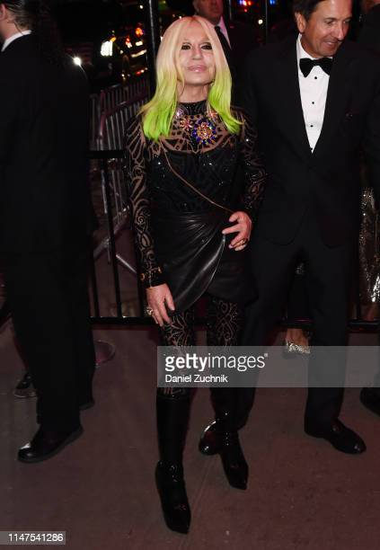 Donatella Versace attends the 2019 Met Gala Boom Boom Afterparty at The Standard hotel on May 06 2019 in New York City