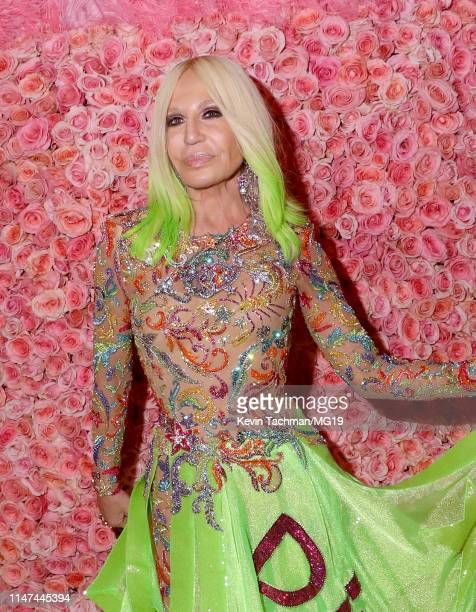 Donatella Versace attends The 2019 Met Gala Celebrating Camp Notes on Fashion at Metropolitan Museum of Art on May 06 2019 in New York City