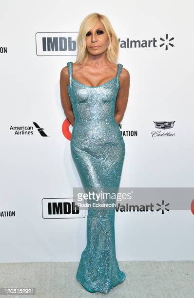 Donatella Versace attends the 28th Annual Elton John AIDS Foundation Academy Awards Viewing Party Sponsored By IMDb And Neuro Drinks on February 09,...