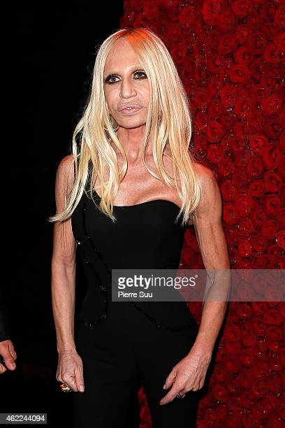 Donatella Versace attends the Atelier Versace after party at 'l'arc' club on January 25 2015 in Paris France
