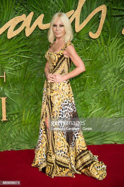 Donatella Versace attends the Fashion Awards 2017 In Partnership With Swarovski at Royal Albert Hall on December 4 2017 in London England