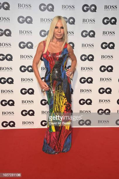 Donatella Versace attends the GQ Men of the Year Awards 2018 in association with HUGO BOSS at Tate Modern on September 5 2018 in London England