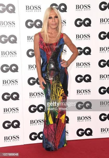 Donatella Versace attends the GQ Men of the Year awards at the Tate Modern on September 5 2018 in London England