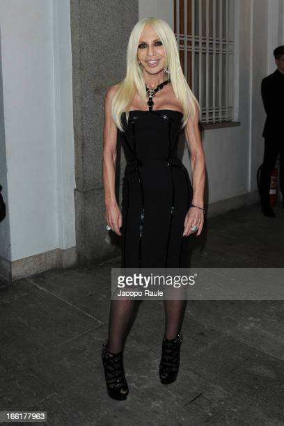 Donatella Versace attends The Haas Bothers For Versace Home on April 9 2013 in Milan Italy