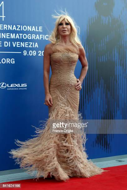 Donatella Versace attends the The 1st Franca Sozzani Award during the 74th Venice Film Festival at Sala Giardino on September 1 2017 in Venice Italy