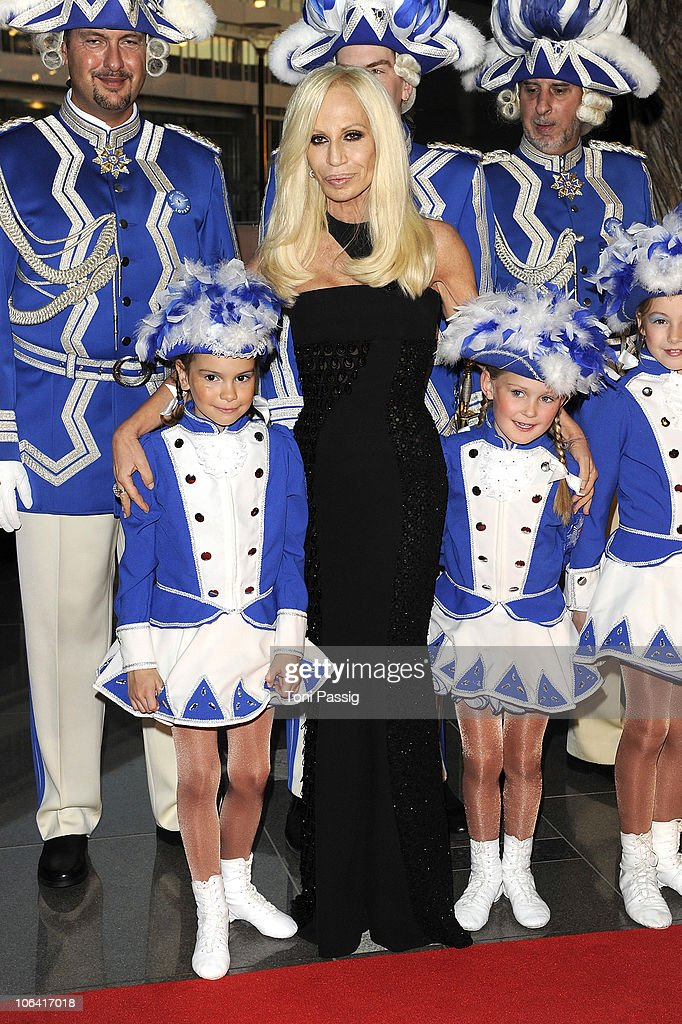 Donatella Versace attends the UNESCO Charity-Gala 2010 at Maritim Hotel on October 30, 2010 in Duesseldorf, Germany.