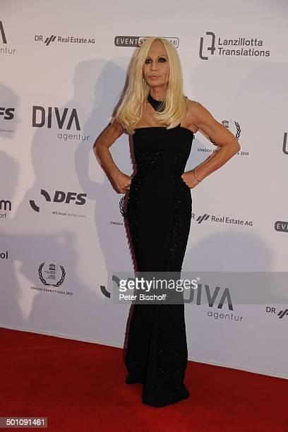 Donatella Versace CharityVeranstaltung 18 UnescoBenefizGala 2010 für Kinder in Not Hotel Maritim Düsseldorf NordrheinWestfalen Deutschland Europa...