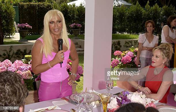 Donatella Versace during Versace Luncheon to Benefit Children's Action NetworkWestside Children's Center Sponsored By InStyle Magazine at Private...