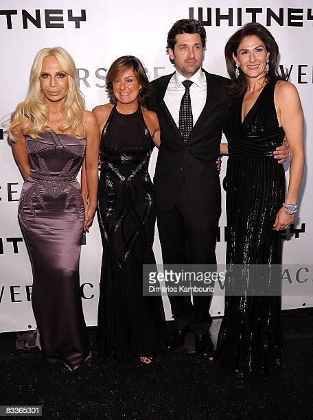 Donatella Versace, Gala Chairmen Liz Swig, actor Patrick Dempsey and Gala Chairmen Allison Kanders attends the 2008 Whitney Museum of American Art...