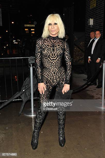 Donatella Versace is seen arriving at The Standard High Line on May 2 2016 in New York City