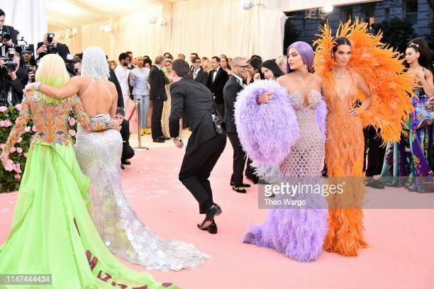 Donatella Versace Jennifer Lopez Kylie Jenner and Kendall Jenner attend The 2019 Met Gala Celebrating Camp Notes on Fashion at Metropolitan Museum of...