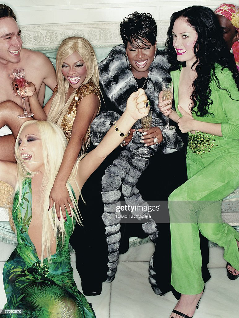Donatella Versace, Lil' Kim, Missy Elliott & Rose McGowan; Donatella Versace by David LaChapelle; Donatella Versace, Interview, January 1, 2000