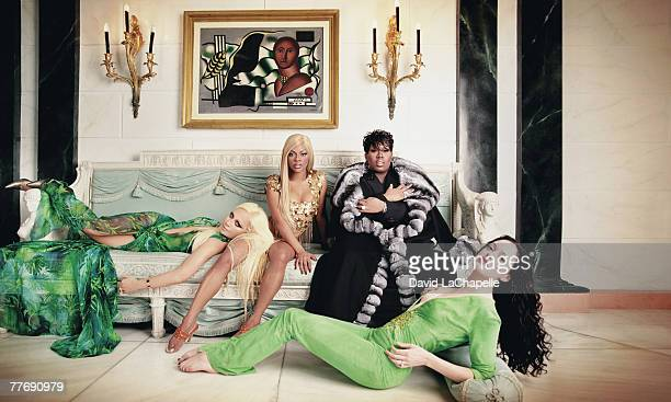 Donatella Versace Lil' Kim Missy Elliott Rose McGowan Donatella Versace by David LaChapelle Donatella Versace Interview January 1 2000