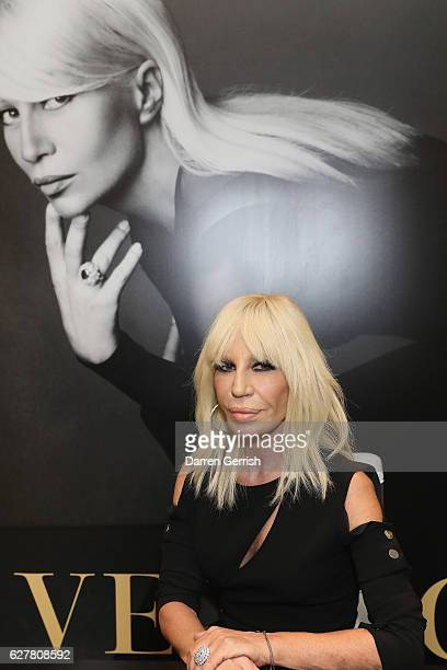 Donatella Versace presents 'Versace' Book with personal appearance and book signing at Harrods on December 5 2016 in London England