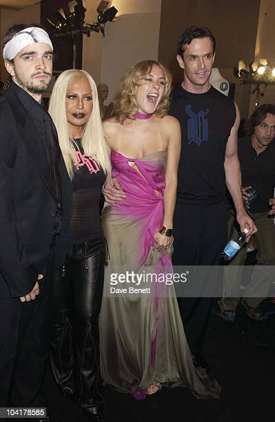Donatella Versace Rupert Everett Chloe Sevigny Versace Couture Collection Fashion Show Held At The Theatre National In The Trocadero In Paris France