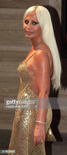 Donatella Versace the Italian fashion designer arrives for the Prince's Foundation Gala Dinner attended by Prince Charles and Camilla Parker Bowles...