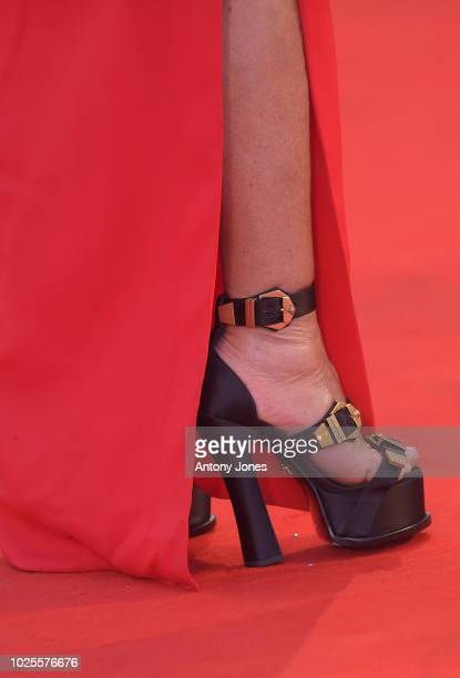 Donatella Versace walks the red carpet ahead of the 'A Star Is Born' screening during the 75th Venice Film Festival at Sala Grande on August 31 2018...