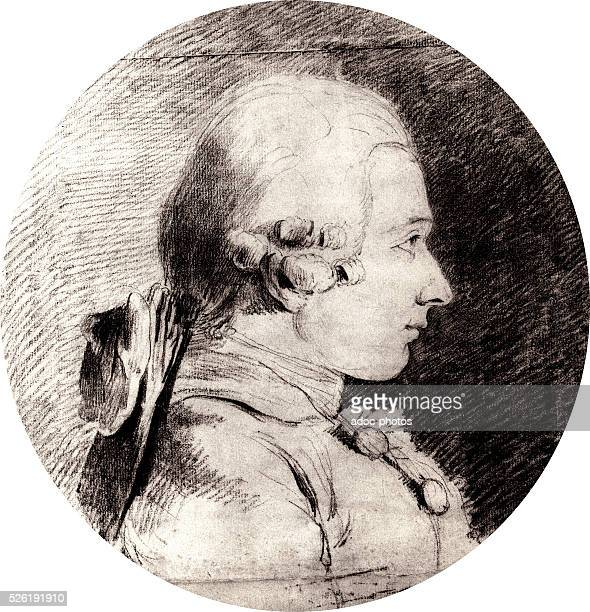 Donatien Alphonse Fran��ois marquis de Sade French writer and philosopher born in Paris Drawing by CharlesAm��d��ePhilippe van Loo in 1760 It is the...
