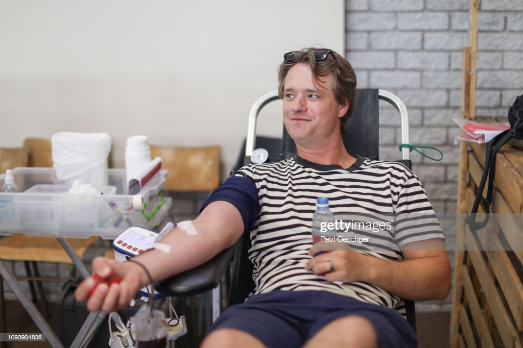 Donating Blood. : Stock Photo