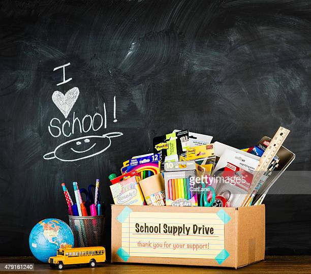 Donation Box for School Supplies