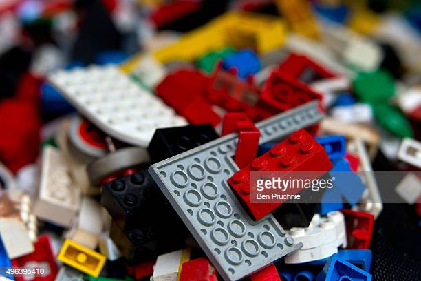 Donations of Lego bricks are left in a BMW 5 series sedan as part of Chinese artist Ai Weiweis' appeal for Lego bricks at The Royal Academy of Arts...