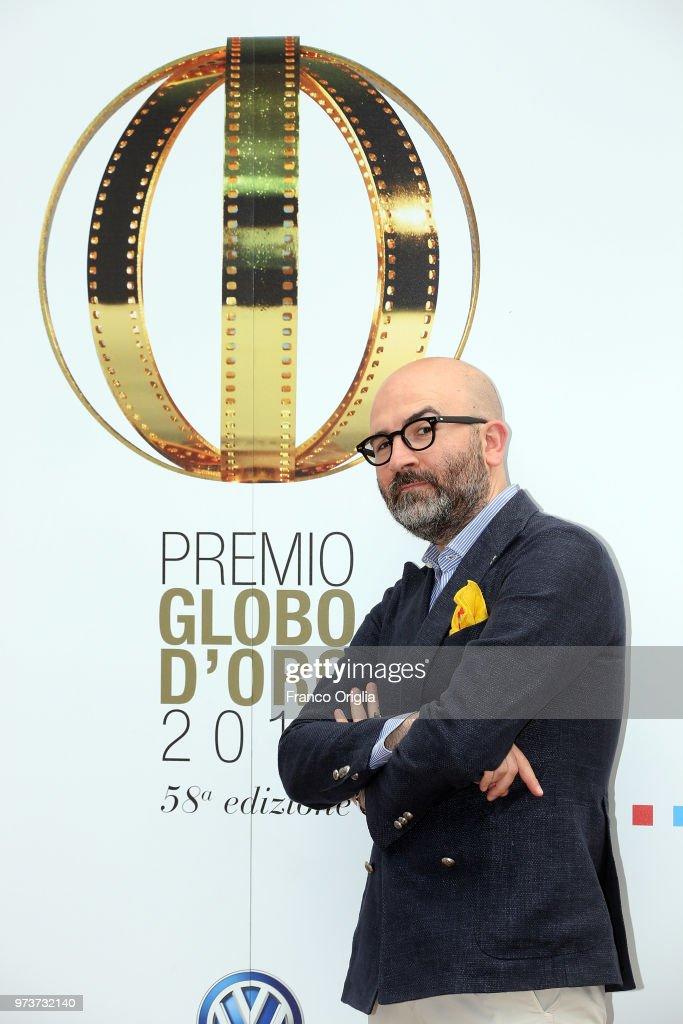 Donato Carrisi attends Globi D'Oro awards ceremony at the Academie de France Villa Medici on June 13, 2018 in Rome, Italy.