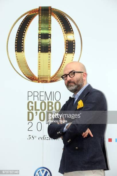 Donato Carrisi attends Globi D'Oro awards ceremony at the Academie de France Villa Medici on June 13 2018 in Rome Italy