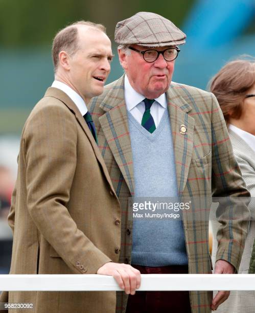 Donatus, Prince and Landgrave of Hesse and Lord Samuel Vestey attend day 4 of the Royal Windsor Horse Show in Home Park on May 12, 2018 in Windsor,...