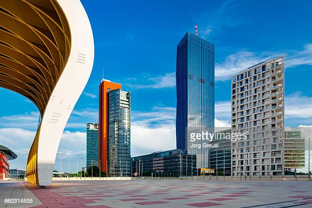 donau city - vienna austria stock pictures, royalty-free photos & images