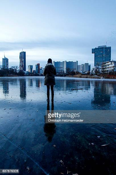 Donaucity Vienna reflections