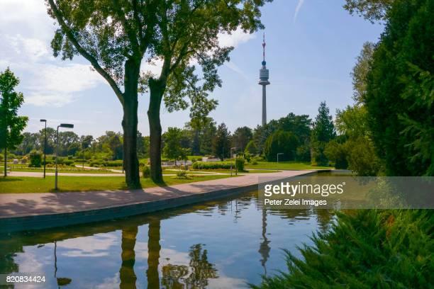 Donaupark in the district of Donaustadt, Vienna, Austria