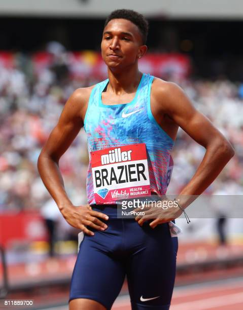 Donavan Brazier in the Men's 800m during Muller Anniversary Games at London Stadium in London on July 09, 2017
