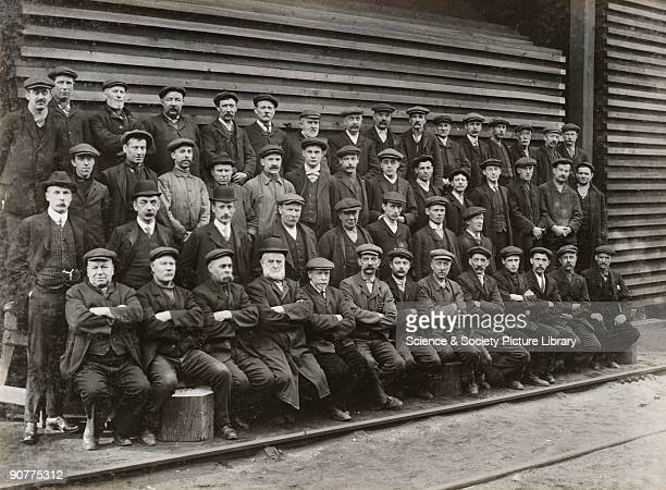 Doncaster carriage works employees in front of a timber stack Doncaster works employed a range of staff including the workers on the factory floor...