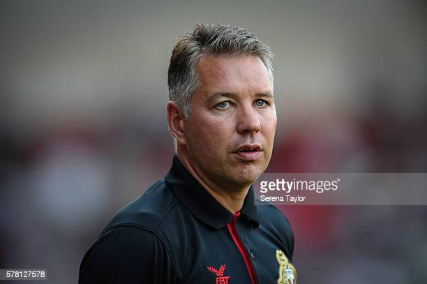 Doncaster Manager Darren Ferguson during the PreSeason Friendly between Doncaster Rovers and Newcastle United at Keepmoat Stadium on July 20 in...
